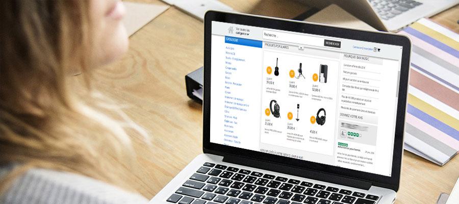 Trouver une boutique en ligne de sonorisation et d instruments de musique